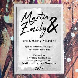 Industrial Theme Wedding Invitation