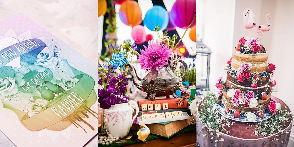 Wedding themes - wedding theme guide - wedding invitations - wedding stationery - bright wedding - love birds wedding