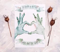 Romantic Zombie Wedding Invitation
