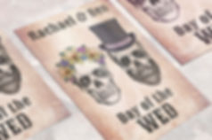 Day of the Wed Wedding stationery. Sugar skull wedding stationery. Gothic wedding invites. Alternative wedding invitations