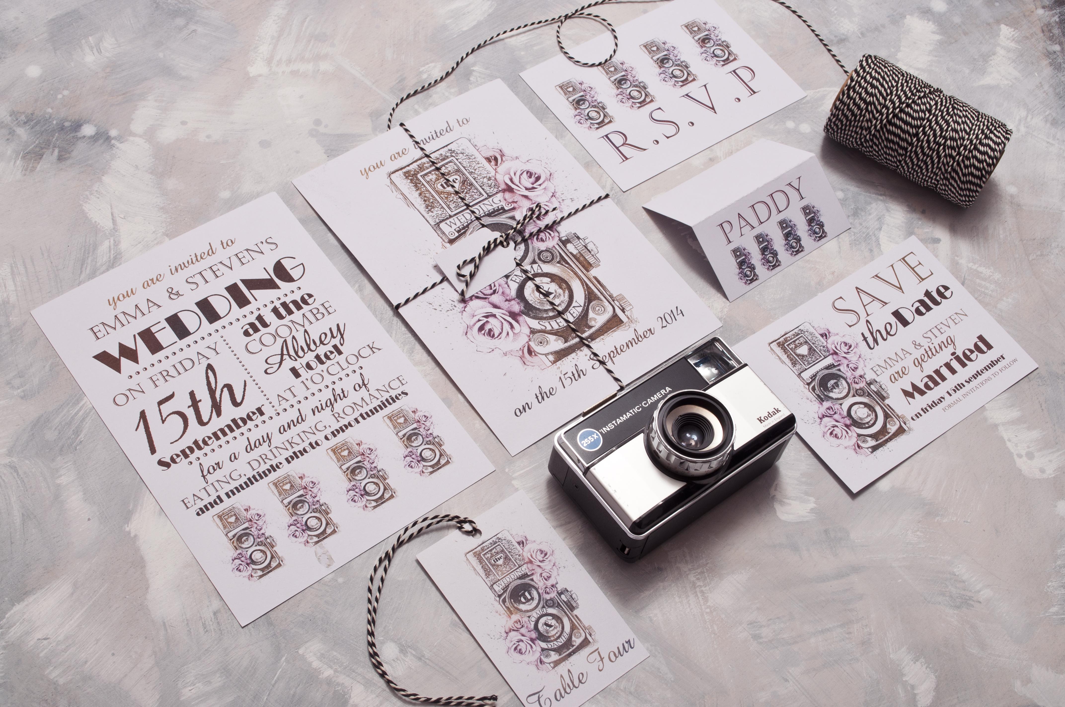 Vintage Camera Wedding Stationery