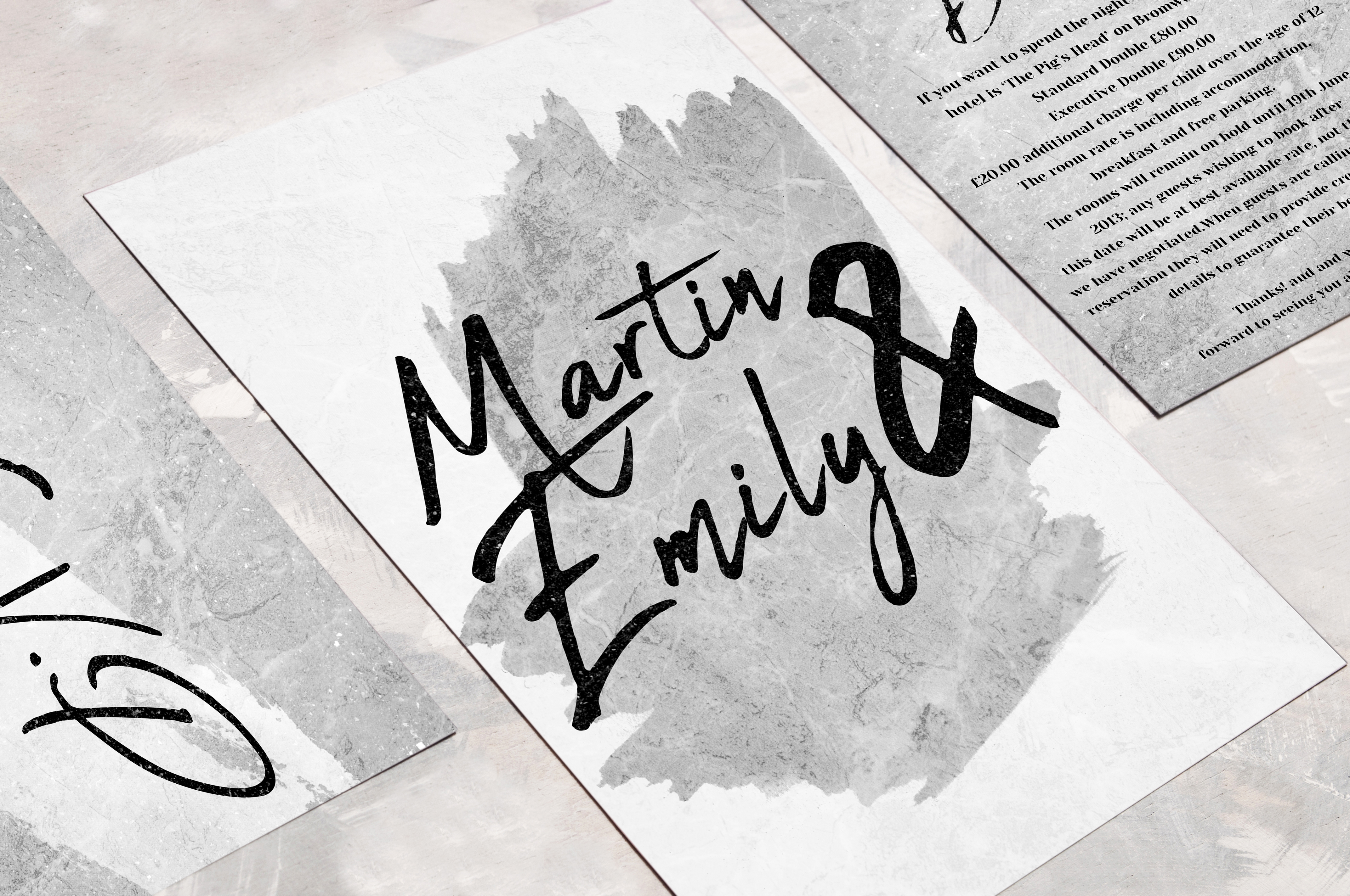 Typography Inspired Wedding Invites
