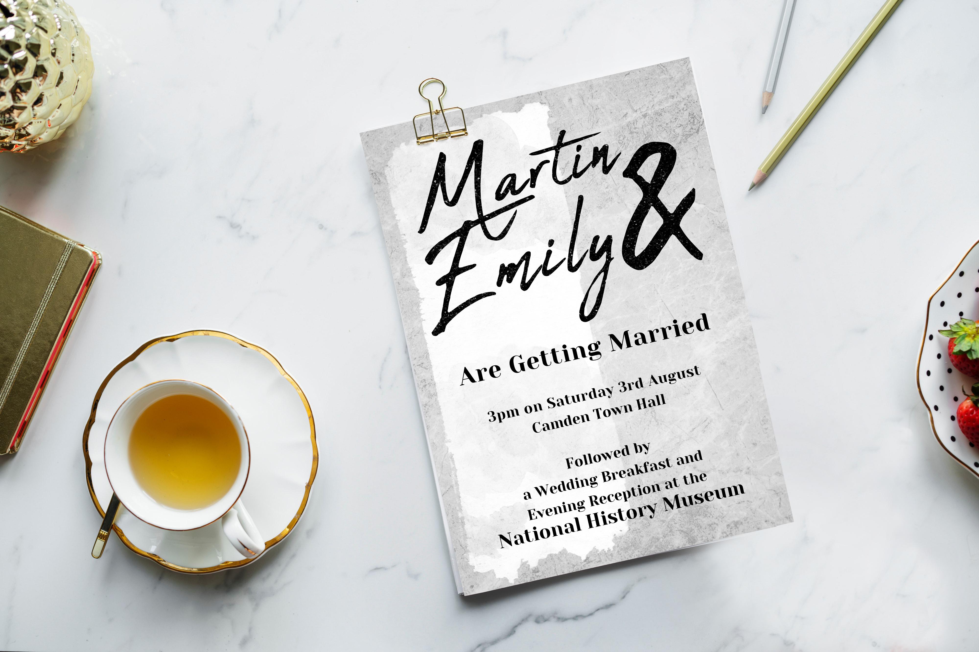 Concrete Wedding Invitatation