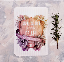Shield & Succulent Save The Date