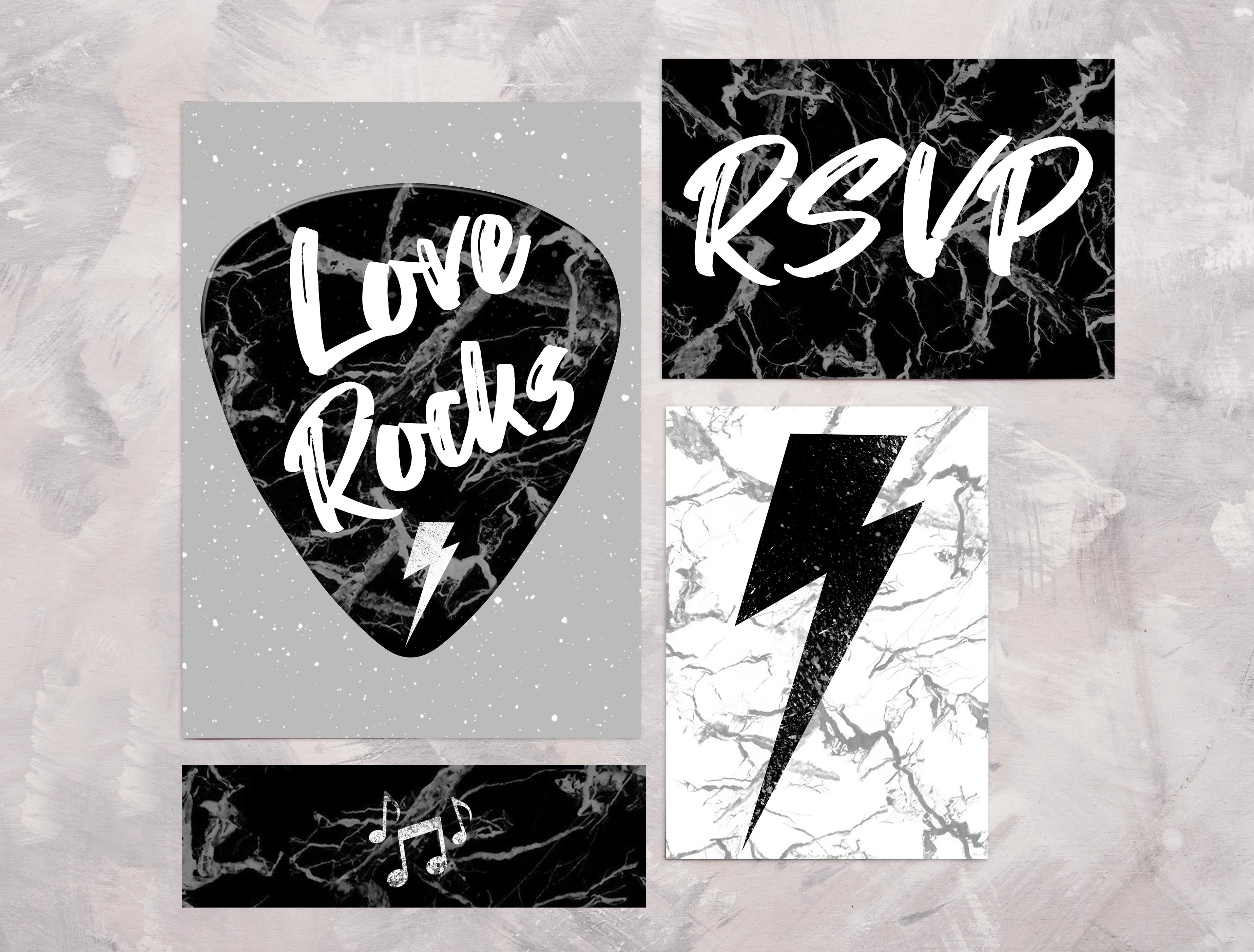 Love Rocks Full Invite Suite