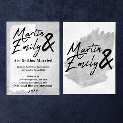 Grey Wedding Invitation