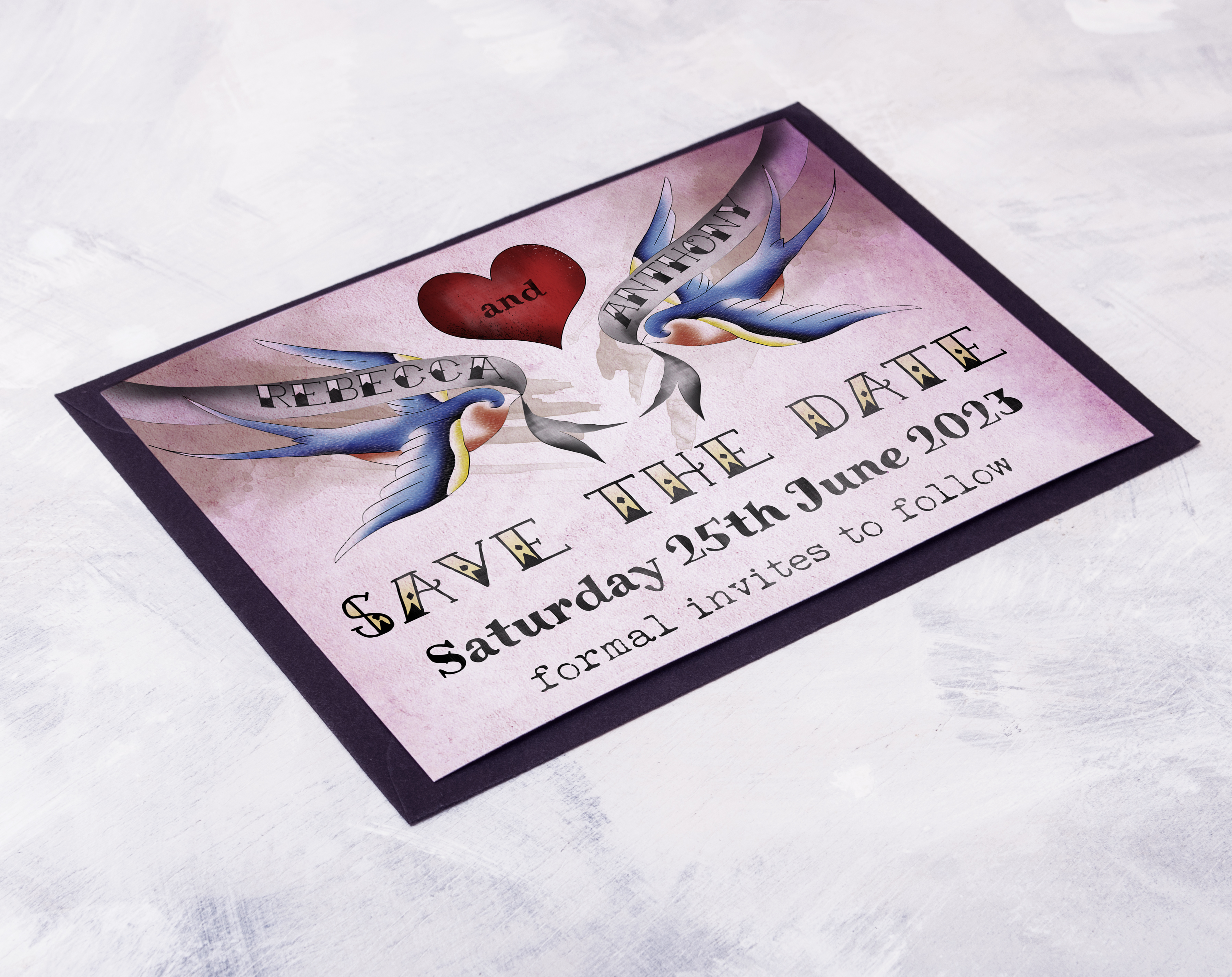 Tattooed Swallow Save The Date