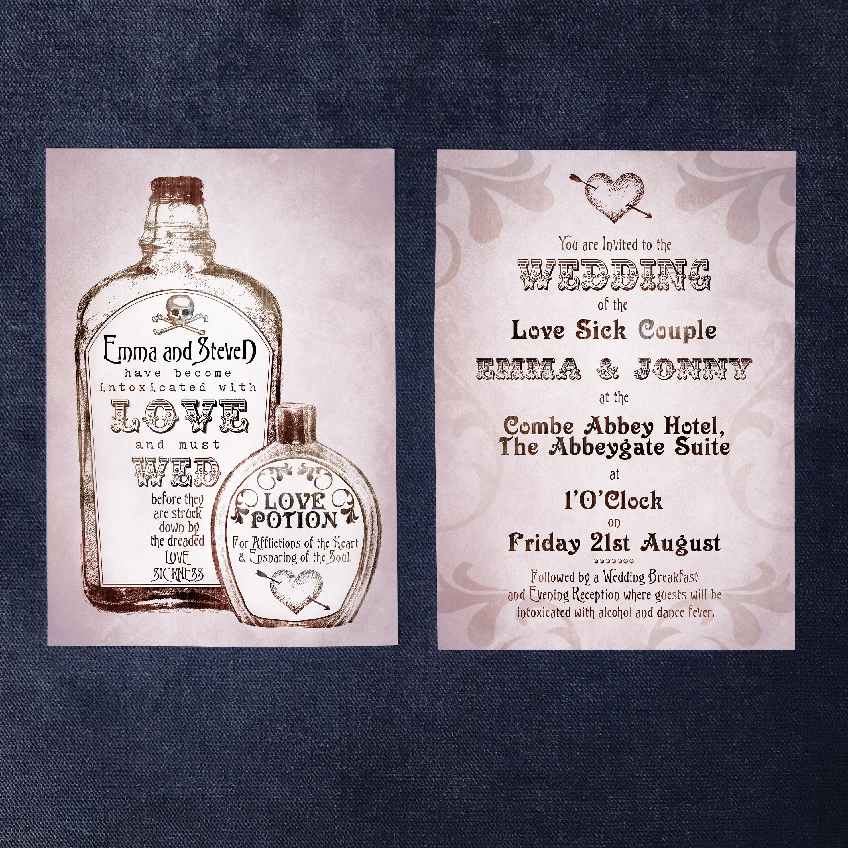 Apothecary Wedding Invitation