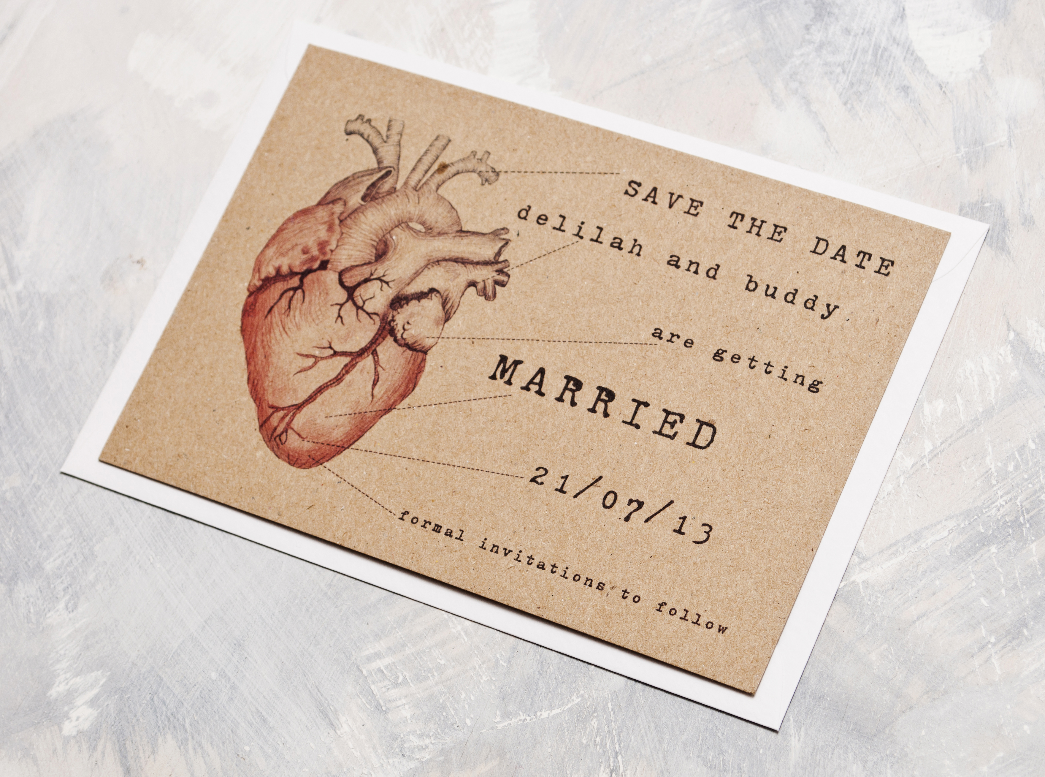 Anatomical Heart Save The Date