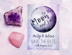 To The Moon And Back Save The Date