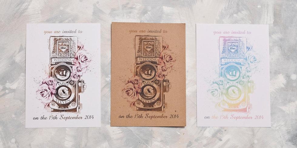 vintage wedding invitations - wedding photographer - personalised wedding invitations