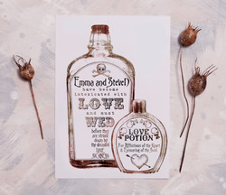 Inspired by Love Potion Bottles.