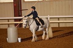 Working Equitation garrocha youth spear bull dressage