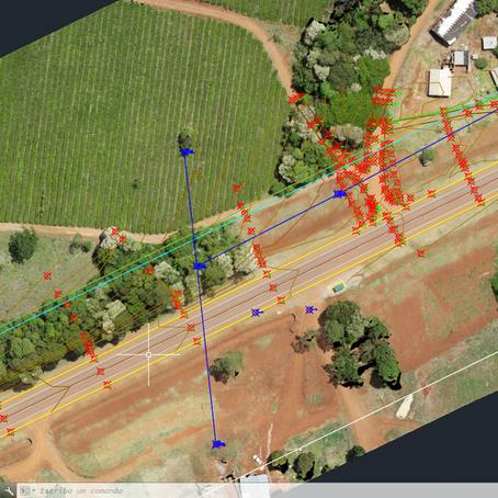 Combinación de relevamiento topográfico tradicional y drone para trazado de tendidos eléctricos