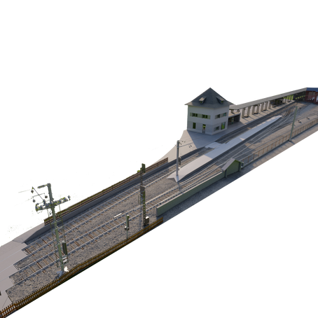 Escaneo LiDAR y modelado en vías de comunicaciones: estación de trenes. Austria.