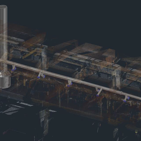 Diseño a medida a partir de tecnología LiDAR, BIM & CAD: Colector industrial de gases