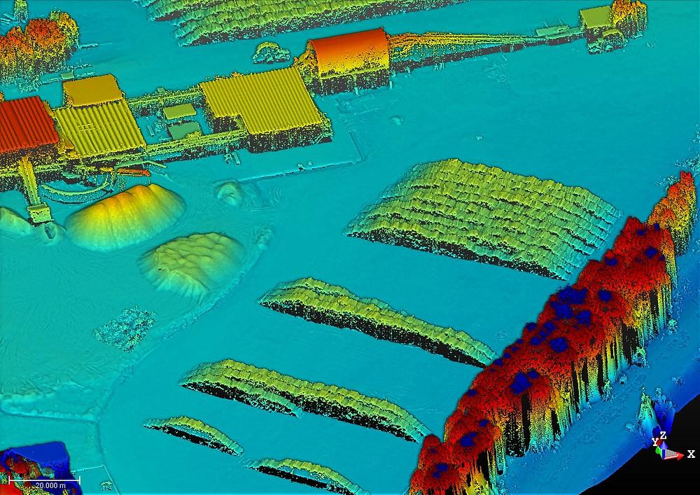 Nube de puntos 3D de la playa para la creación de los modelos de pilas y su posterior cálculo de volumenes