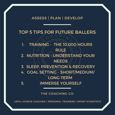 TOP TIPS FOR FUTURE BALLERS