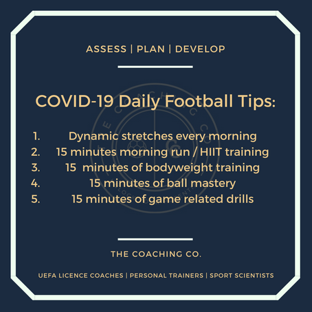 COVID-19 Daily Football Tips For Young Footballers