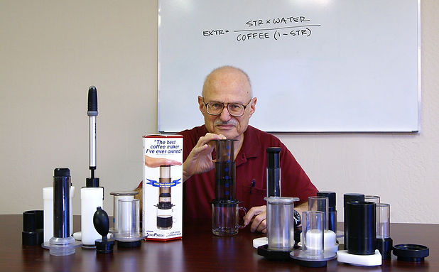 Inventor Alan Adler & AeroPress Prototyp
