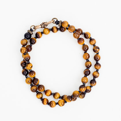Tiger Eye Double Wrap Bracelet