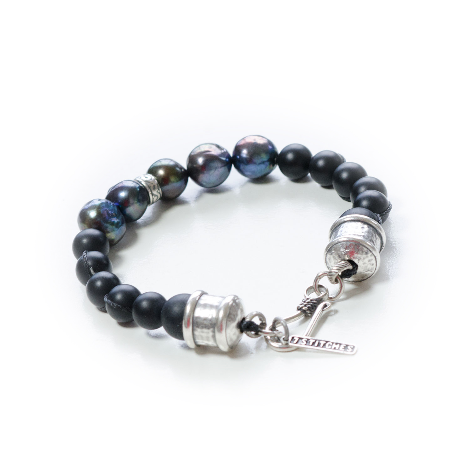 Men's pearl and Silver Bracelet