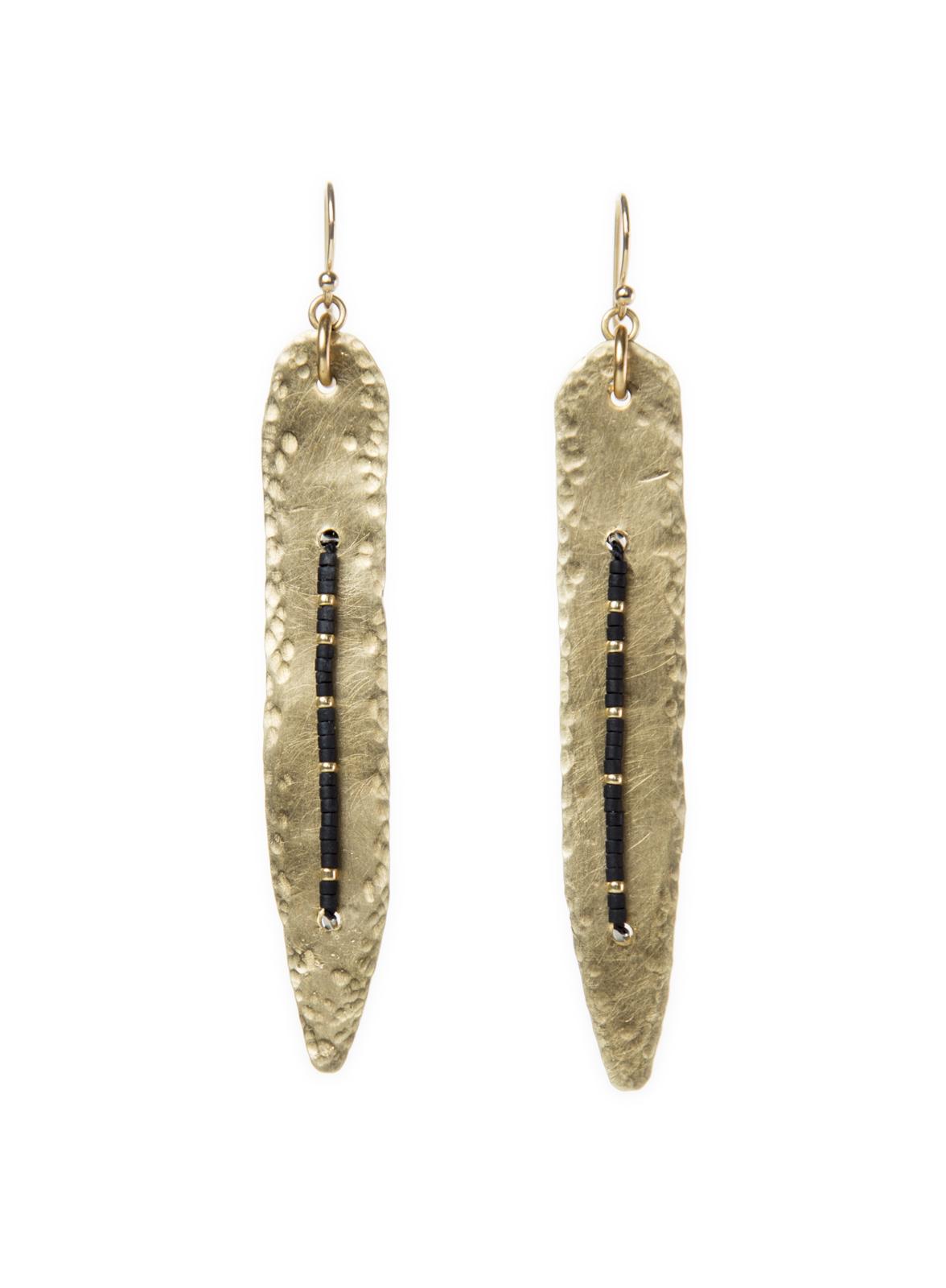 Hammered dagger earring
