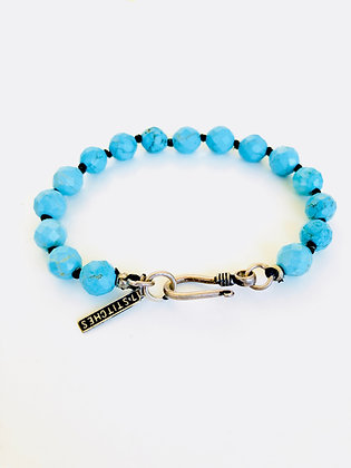 Turquoise Bracelet with silver clasp