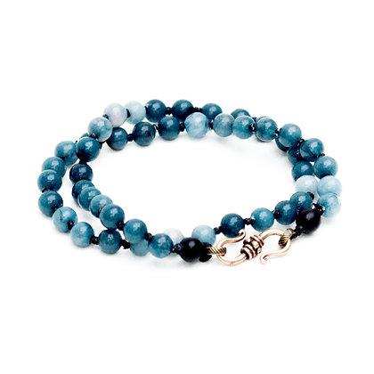 Men's Double Wrap Bracelet - Jade