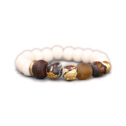 Yak Bone and Skull Bracelet