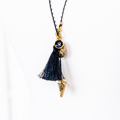 Meditation OM Necklace with tassel
