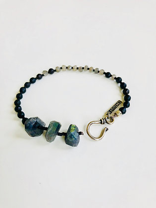 Faceted Labs and Onyx bracelet