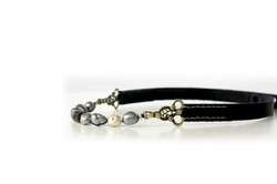 Leather Collar/Choker with pearl