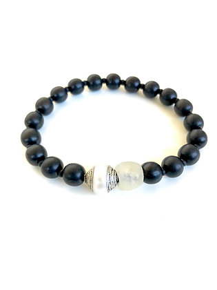 Ebony and Pearl Bracelet