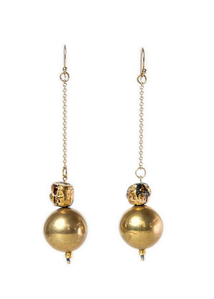 Drop Gold ball earrings