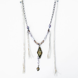 Statement Necklace with leather