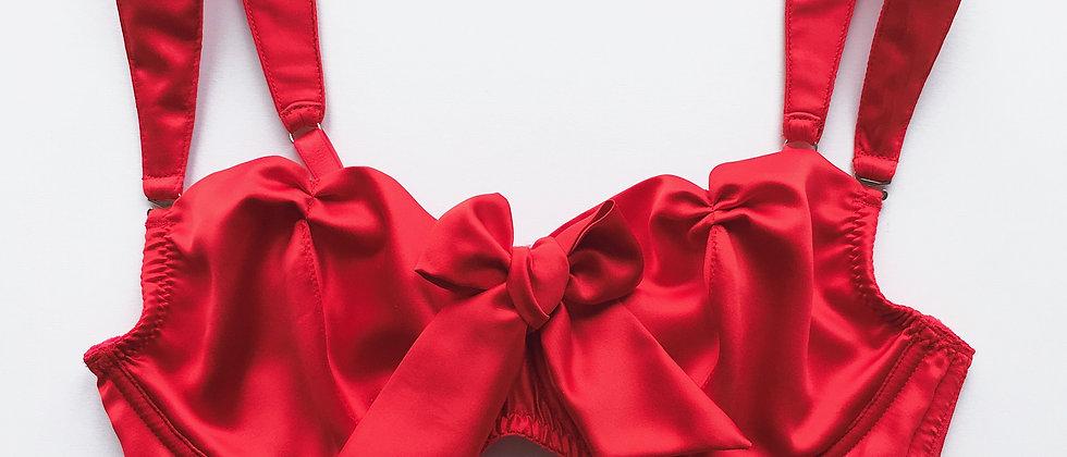 Marie Antoinette bra in red