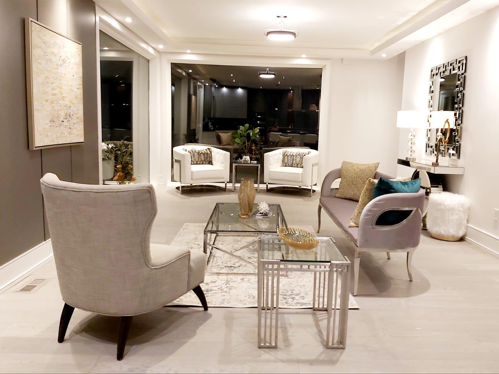 living room staged for selling etobicoke
