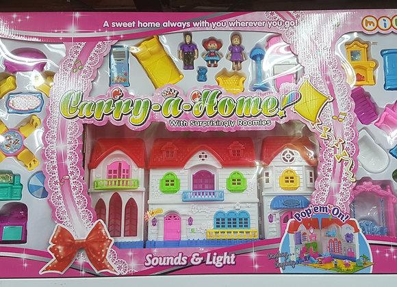בית בובות מפואר עם אורות ומוזיקה