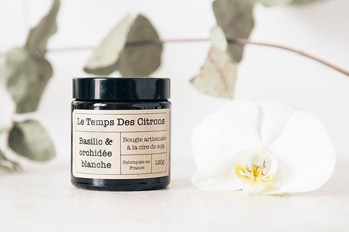Bougie Basilic & Orchidée Blanche