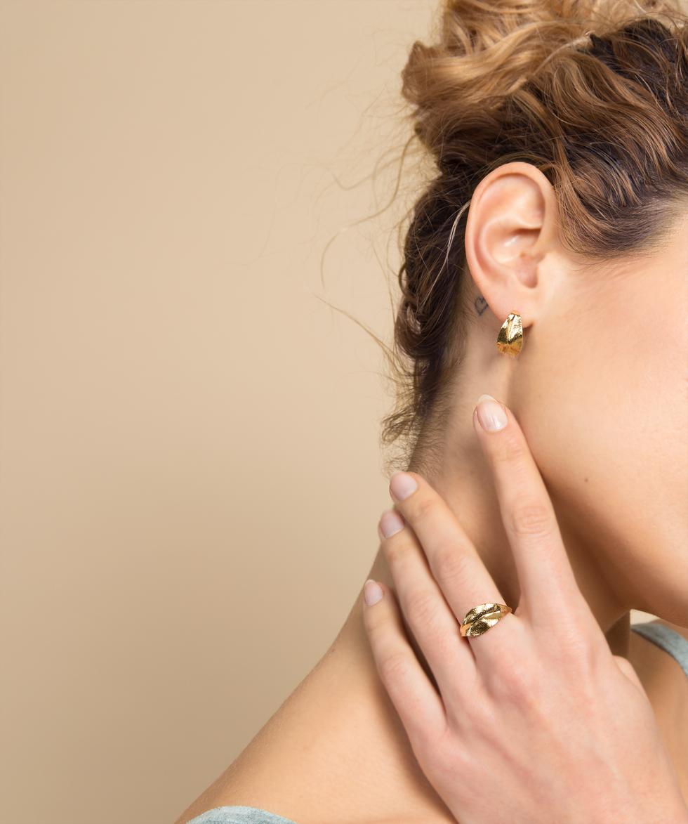 Boucles d'oreilles et bague NOE
