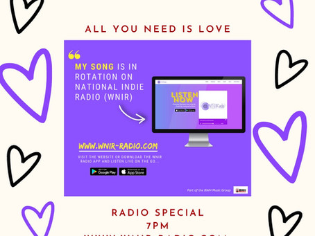 "Latest single ""My Everything"" has been released on the radio for a Valentines Radio Special"