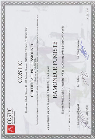 Diplome COSTIC rr services ramonage
