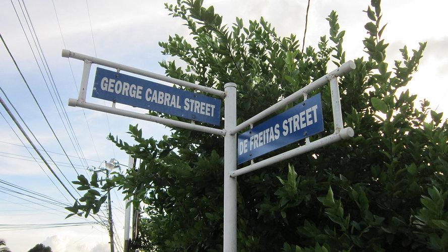 Cor. George Cabral & de Freitas Sts, St James