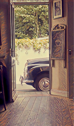 Calling for Coffee - Morris Minor