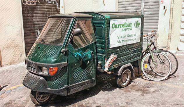 Express Delivery - Piaggio Ape