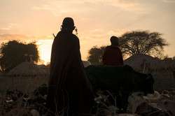 Maasai Tribe -- Sunset Silhouette