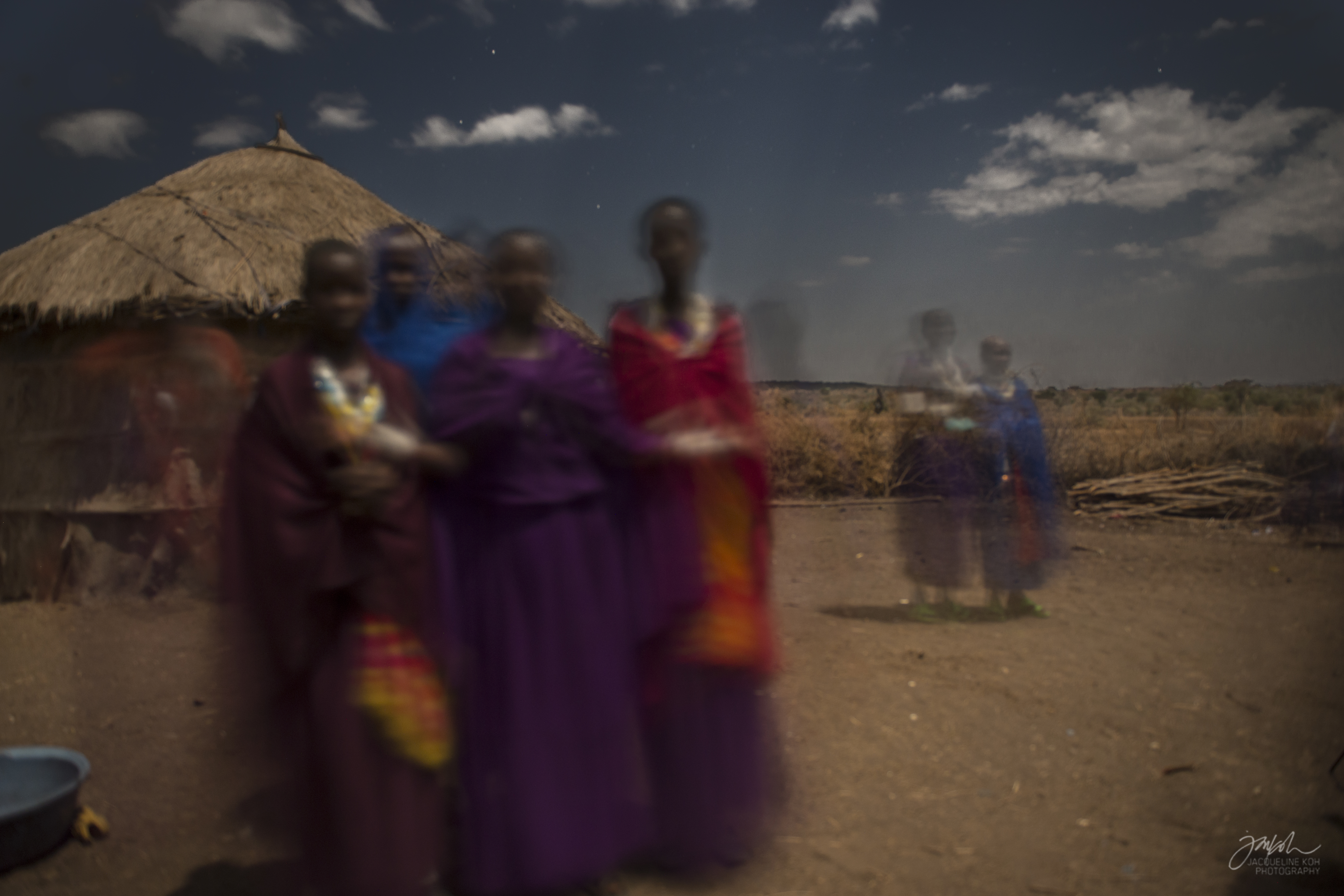 Night capture - Dancing Maasai Women