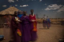 Night capture - Dancing Maasai Women