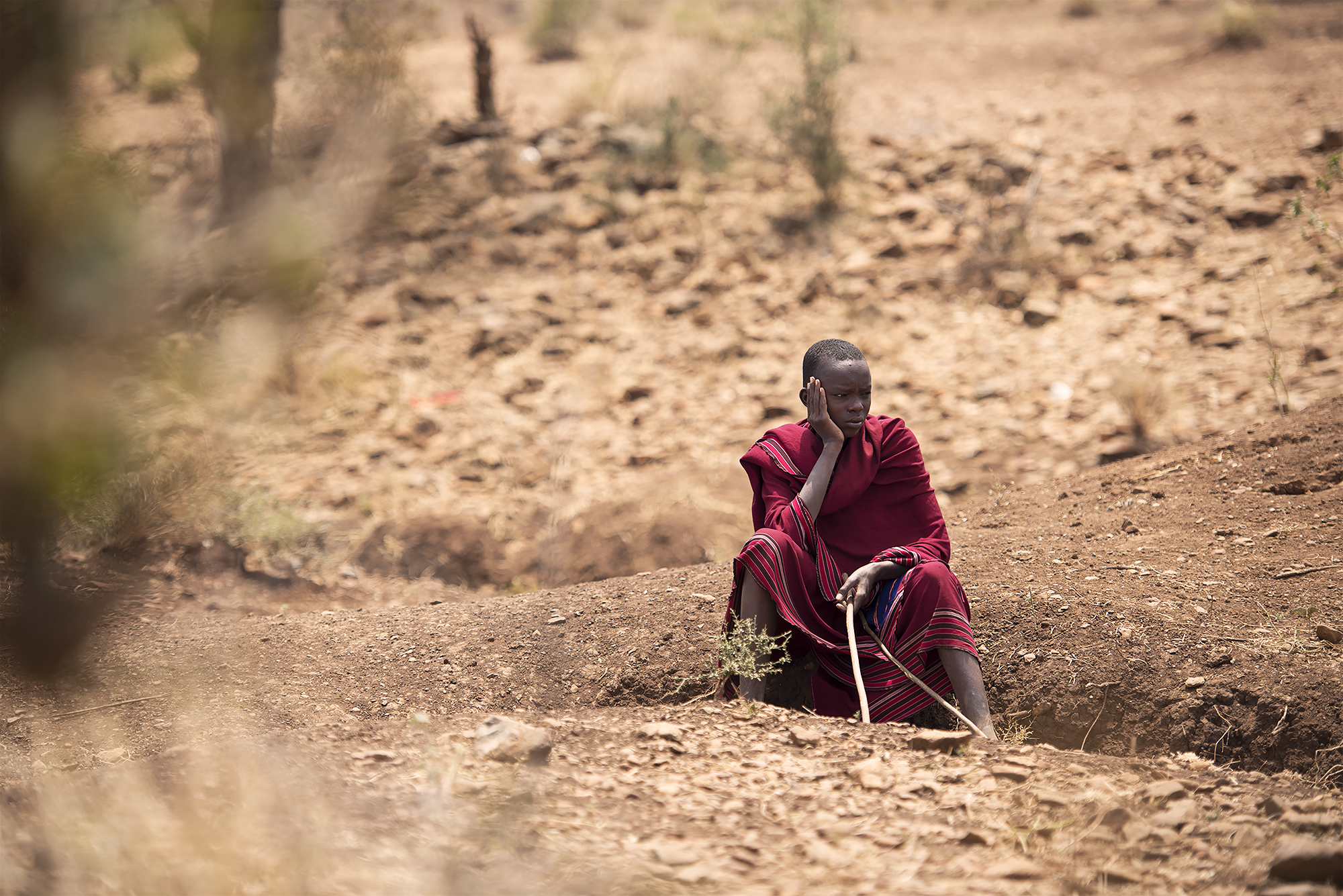Maasai Tribe -- Contemplation